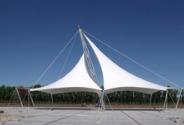 双帽景观膜结构创意设计