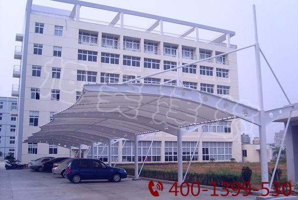 景区汽车膜结构停车棚