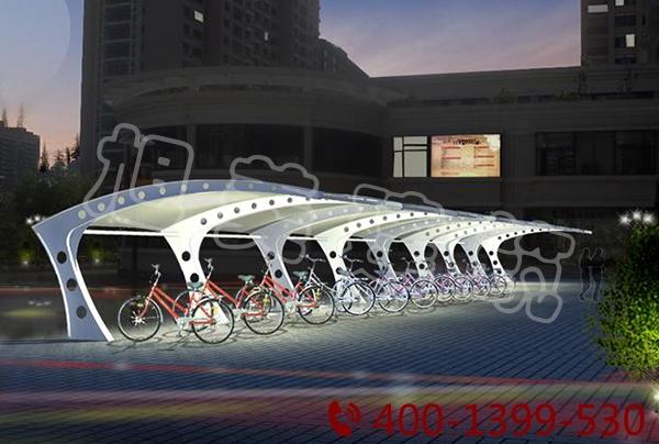 酒店汽车膜结构停车棚
