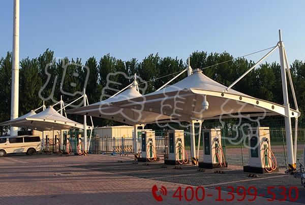 膜结构景观候车棚