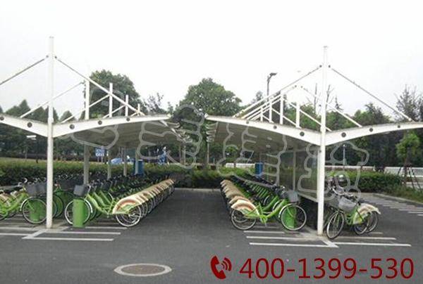 社区电动膜结构停车棚