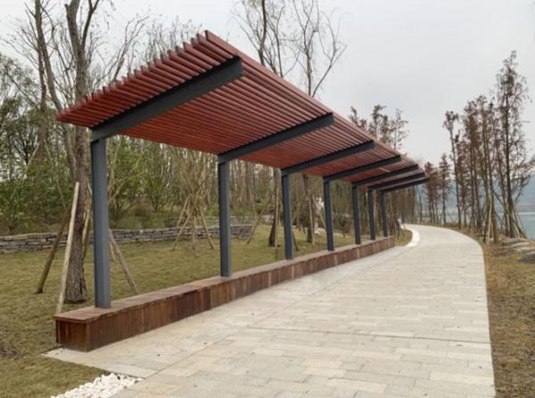 丹东钢结构廊架
