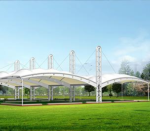 膜结构遮阳雨棚